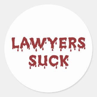 Los abogados chupan etiquetas redondas