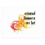 Los abogados criminales son calientes tarjeta postal