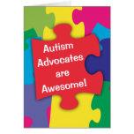 Los abogados del autismo son impresionantes felicitaciones