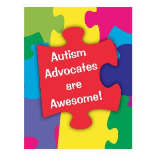 Los abogados del autismo son impresionantes tarjetas postales