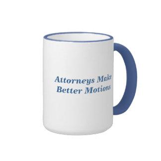 Los abogados hacen mejores movimientos taza de café