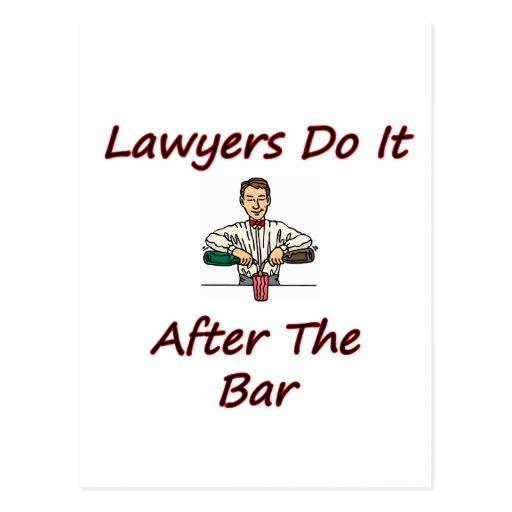 Los abogados lo hacen después de la barra postales