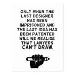 ¡Los abogados no pueden dibujar! Tarjetas Postales