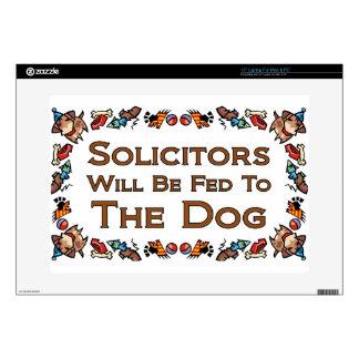 Los abogados serán FED al perro Calcomanía Para Portátil