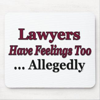 Los abogados tienen sensaciones también… alegado alfombrillas de raton