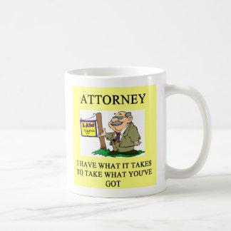 los abogados y los abogados bromean, los abogados  tazas de café