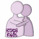 Los abrazos curan púrpura del símbolo esculturas fotograficas