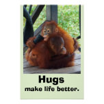 Los abrazos hacen vida mejor poster