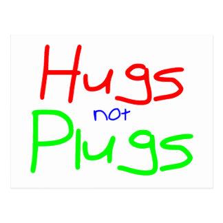 Los abrazos no tapan (el rojo) postal