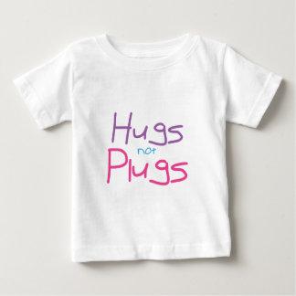 Los abrazos no tapan (el rosa) playera de bebé