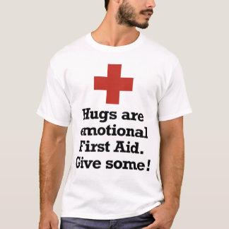 Los abrazos son primeros auxilios emocionales playera