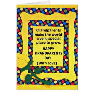 Los abuelos hacen el mundo un lugar especial… tarjeta de felicitación