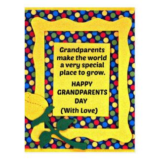 Los abuelos hacen el mundo un lugar especial… postales