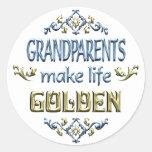 Los abuelos hacen vida de oro etiqueta redonda