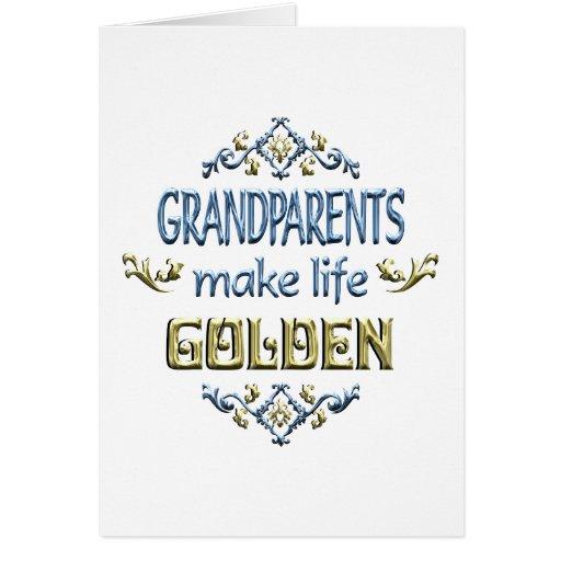 Los abuelos hacen vida de oro tarjeta