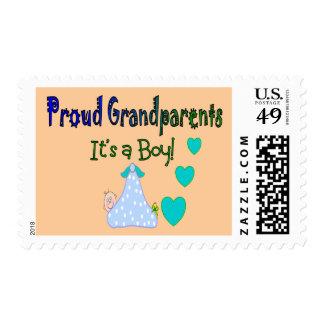 """Los abuelos orgullosos """"es un muchacho """" sellos"""