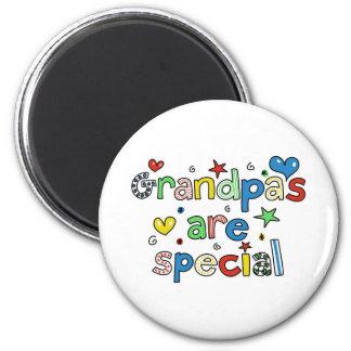Los abuelos son especiales imán redondo 5 cm