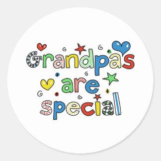 Los abuelos son especiales pegatina redonda