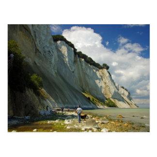 Los acantilados de lunes Selandia, Dinamarca Postal