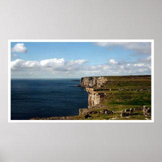 Los acantilados del Dun Aengus Póster