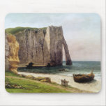 Los acantilados en Etretat, 1869 Mousepad