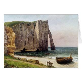 Los acantilados en Etretat 1869 Tarjeta