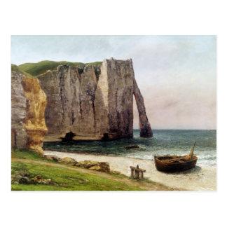 Los acantilados en Etretat 1869 Tarjeta Postal