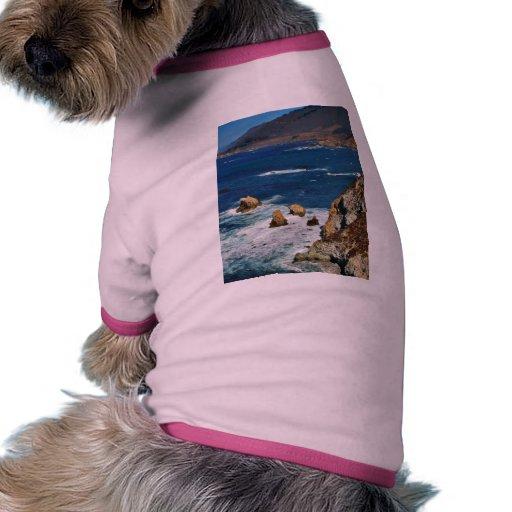 Los acantilados encendido ven camiseta con mangas para perro
