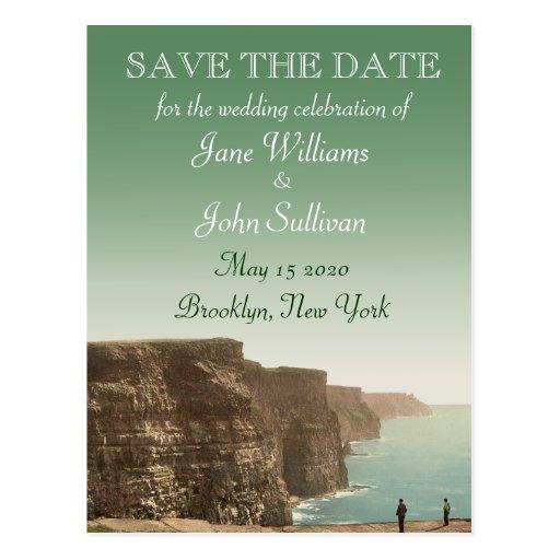 Los acantilados irlandeses del tema del boda de postal