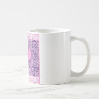 Los accesorios de hadas de la flor rosada bonita - taza clásica