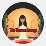 Los accesorios del salón de las karmas pegatinas redondas