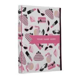 Los accesorios rosados femeninos personalizaron el
