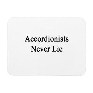 Los acordeonistas nunca mienten imanes rectangulares