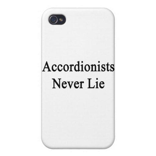 Los acordeonistas nunca mienten iPhone 4 carcasa
