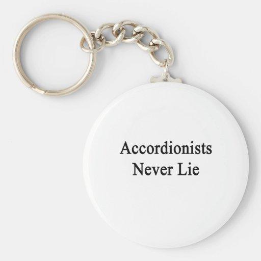 Los acordeonistas nunca mienten llavero personalizado