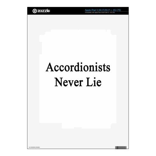 Los acordeonistas nunca mienten iPad 3 pegatinas skins