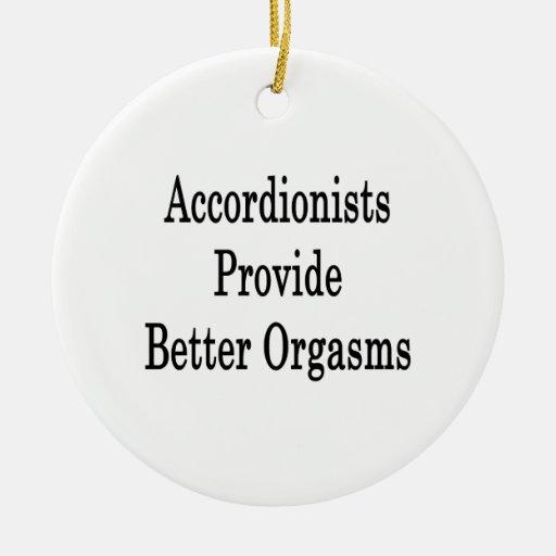 Los acordeonistas proporcionan mejores orgasmos ornamento para arbol de navidad