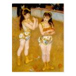 Los acróbatas de Renoir en el Cirque Fernando Postal