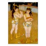 Los acróbatas de Renoir en el Cirque Fernando Tarjeta De Felicitación