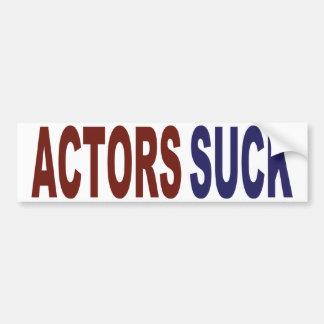 Los actores chupan pegatina de parachoque