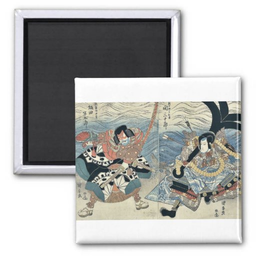 Los actores por Utagawa, Kuniyasu Imanes