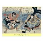 Los actores por Utagawa, Kuniyasu Postales