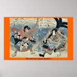 Los actores por Utagawa, Kuniyasu Poster