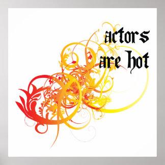 Los actores son calientes poster