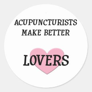 Los Acupuncturists hacen a mejores amantes Pegatina Redonda