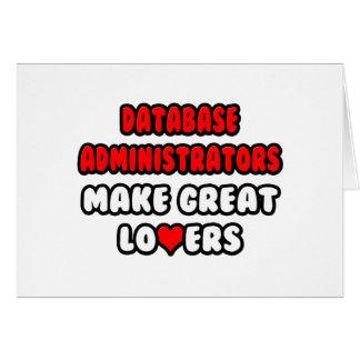 Los administradores de base de datos hacen a grand tarjeta