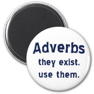 Los adverbios existen imán