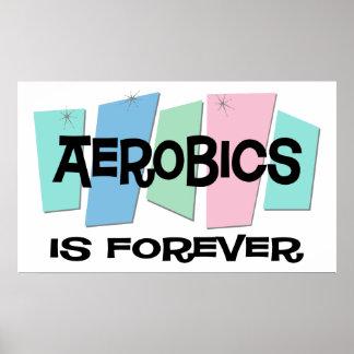Los aeróbicos son Forever Póster
