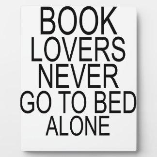 Los aficionados a los libros nunca se van a la cam placas de plastico
