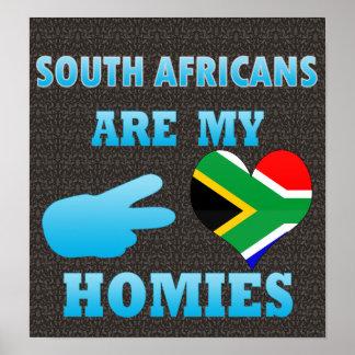 Los africanos del sur son mi Homies Poster